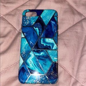 Accessories - Turquoise Blue Marble IPhone 8 Phone Case